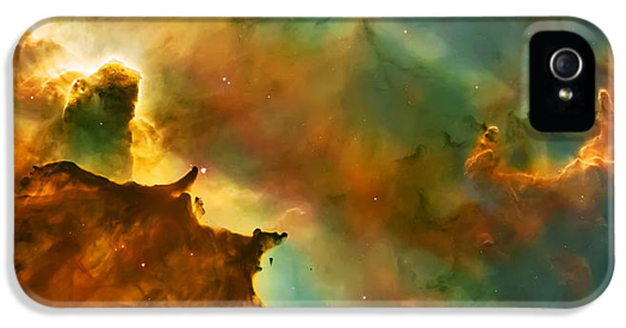 Nasa Images IPhone 5 Case featuring the photograph Nebula Cloud by Jennifer Rondinelli Reilly - Fine Art Photography
