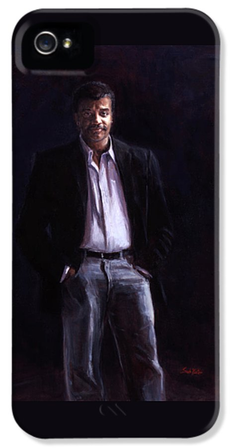 Cosmos IPhone 5 Case featuring the painting Neil Degrasse Tyson by Sarah Yuster