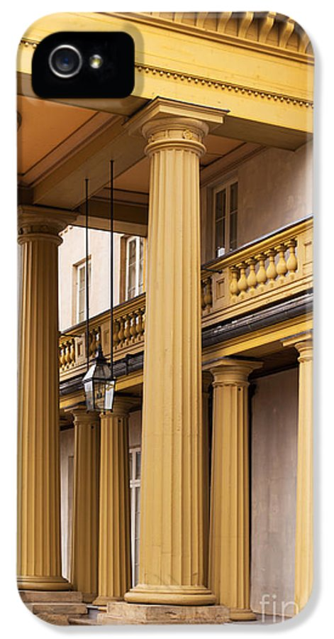 Architecture IPhone 5 Case featuring the photograph Neo Classical Columns by Barbara McMahon