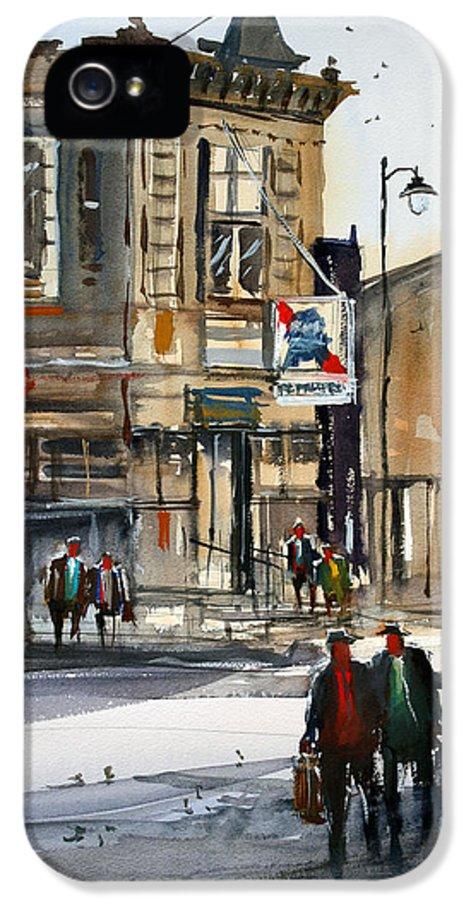 Ryan Radke IPhone 5 Case featuring the painting Neshkoro Tavern by Ryan Radke
