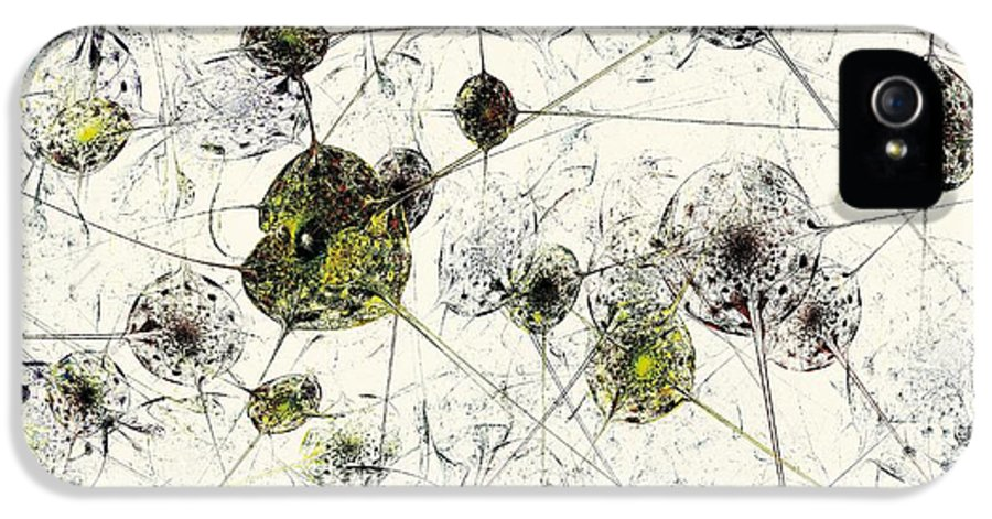 Malakhova IPhone 5 Case featuring the digital art Neural Network by Anastasiya Malakhova