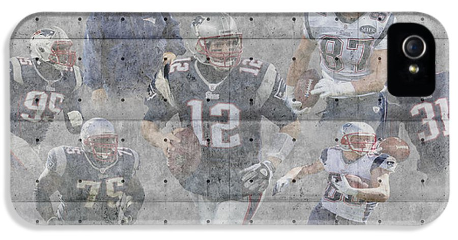 Patriots IPhone 5 Case featuring the photograph New England Patriots Team by Joe Hamilton