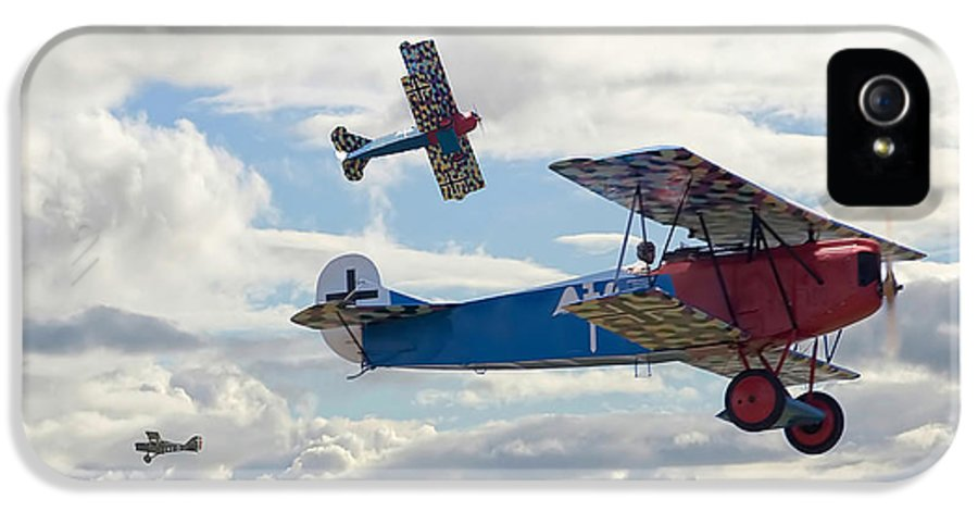 Aircraft IPhone 5 Case featuring the digital art New Kid On The Block by Pat Speirs