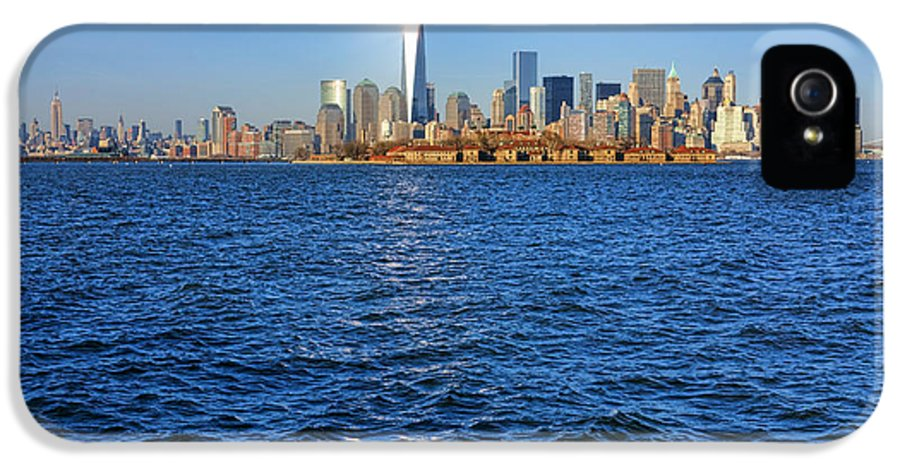 New York City IPhone 5 Case featuring the photograph New Light On The Water by Olivier Le Queinec