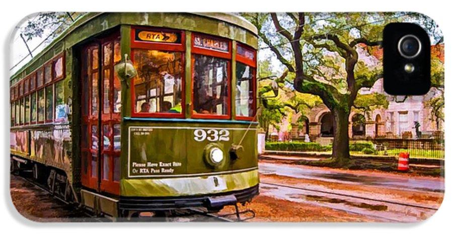 Garden District IPhone 5 Case featuring the photograph New Orleans Classique Oil by Steve Harrington