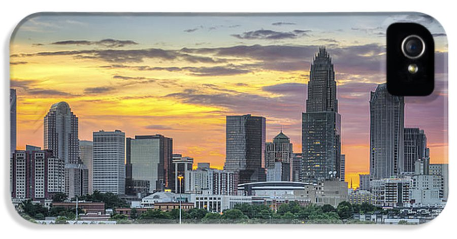 Charlotte IPhone 5 Case featuring the photograph New South Summer Sunset by Brian Young