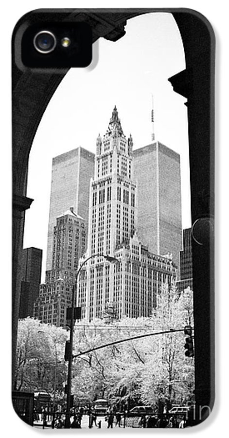 New York Arches 1990s IPhone 5 Case featuring the photograph New York Arches 1990s by John Rizzuto