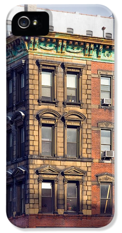 Old Buildings IPhone 5 Case featuring the photograph New York City - Windows - Old Charm by Gary Heller
