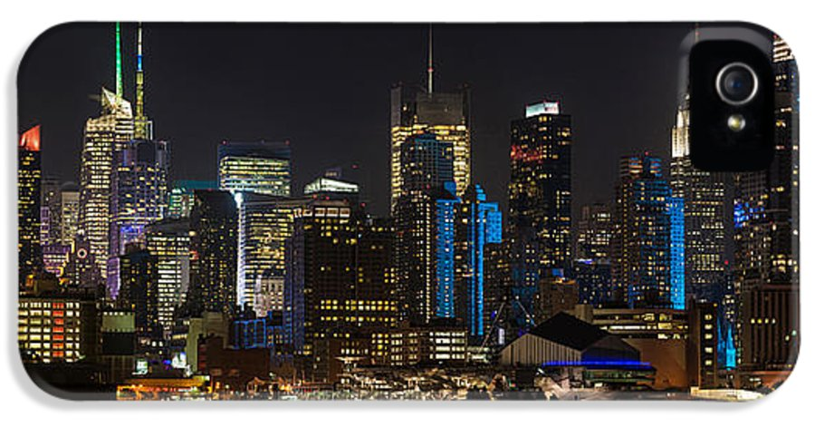 New York IPhone 5 Case featuring the photograph New York In Blue by Mike Reid