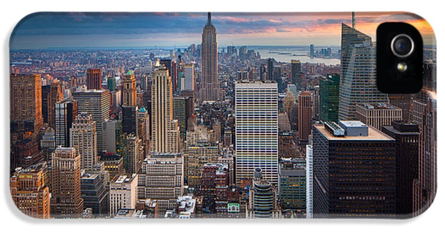 America IPhone 5 Case featuring the photograph New York New York by Inge Johnsson