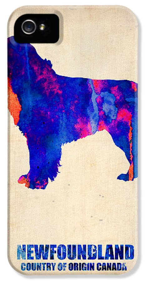 Newfoundland IPhone 5 Case featuring the painting Newfoundland Poster by Naxart Studio
