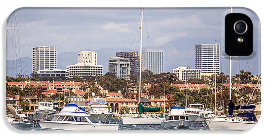 America IPhone 5 Case featuring the photograph Newport Beach Skyline by Paul Velgos