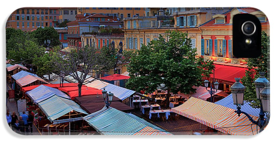 Cote D'azur IPhone 5 Case featuring the photograph Nice Flower Market by Inge Johnsson