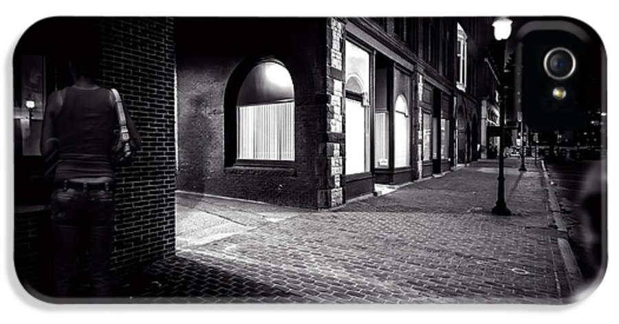 Night IPhone 5 Case featuring the photograph Night People Main Street by Bob Orsillo