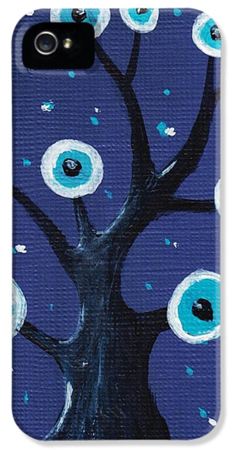 Malakhova IPhone 5 Case featuring the painting Night Sentry by Anastasiya Malakhova