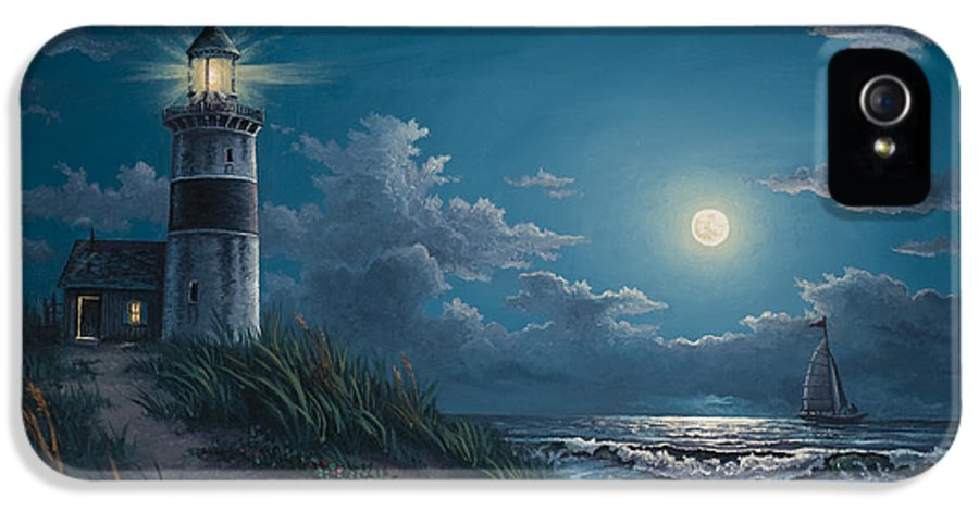 Lighthouse IPhone 5 Case featuring the painting Night Watch by Kyle Wood