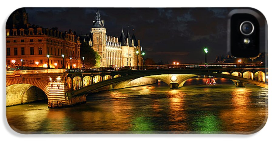 Architecture IPhone 5 Case featuring the photograph Nighttime Paris by Elena Elisseeva