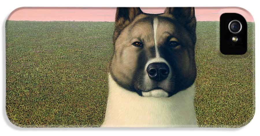 Akita IPhone 5 Case featuring the painting Nikita by James W Johnson