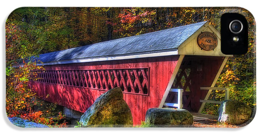 New Hampshire IPhone 5 Case featuring the photograph Nissitissit Bridge Brookline Nh by Joann Vitali