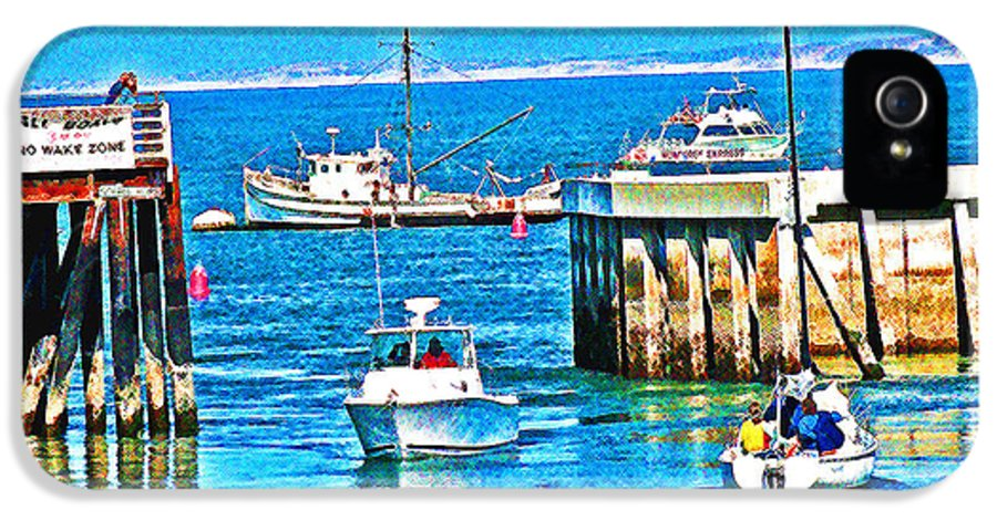 Mendocino County IPhone 5 Case featuring the photograph No Wake Zone Gate by Joseph Coulombe