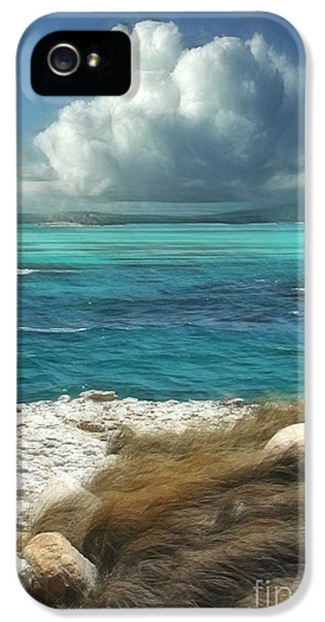 Antigua IPhone 5 Case featuring the painting Nonsuch Bay Antigua by John Edwards