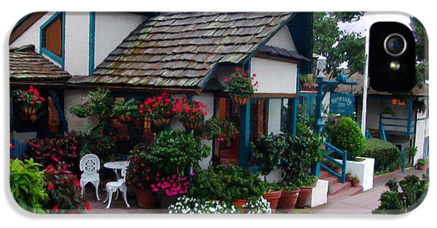 Normandy Inn IPhone 5 Case featuring the photograph Normandy Inn - Carmel California by Glenn McCarthy Art and Photography