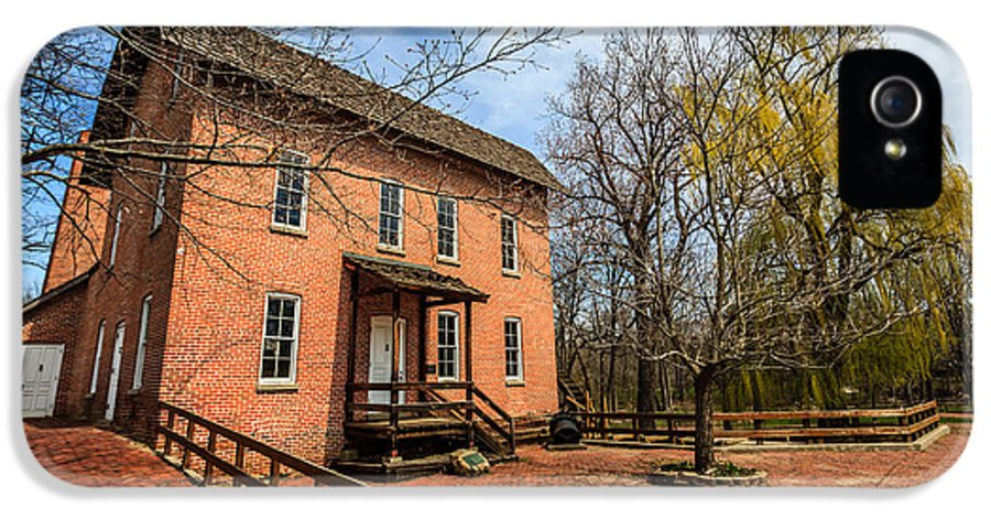 1800's IPhone 5 Case featuring the photograph Northwest Indiana Grist Mill by Paul Velgos