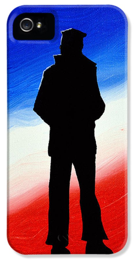 Non Sibi Sed Patriae IPhone 5 Case featuring the painting Not Self But Country by Alys Caviness-Gober