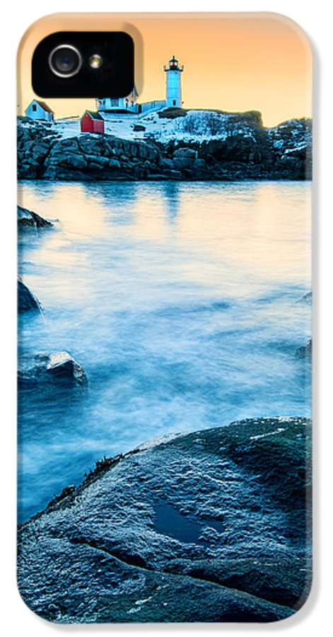 Cape Neddick IPhone 5 Case featuring the photograph Nubble Light by Expressive Landscapes Fine Art Photography by Thom