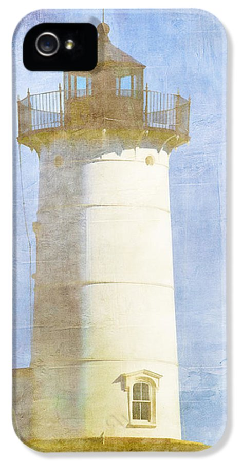 Light IPhone 5 Case featuring the photograph Nubble Lighthouse by Carol Leigh