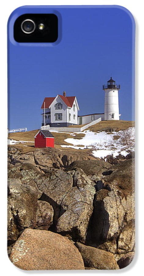 Water IPhone 5 Case featuring the photograph Nubble's Rocky Coastline by Joann Vitali