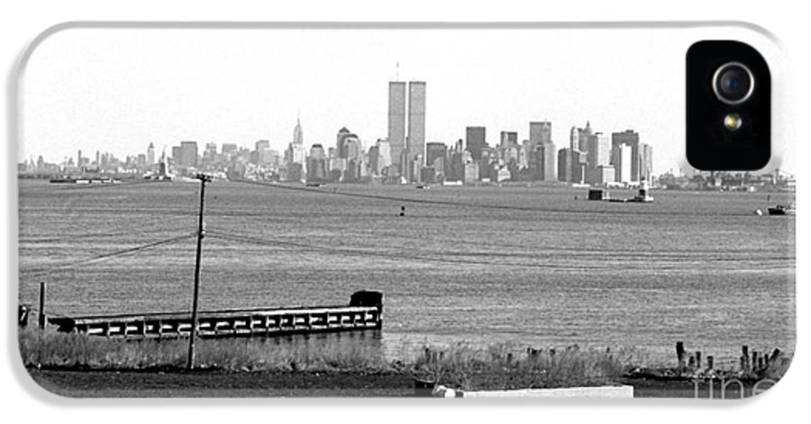Nyc In The Distance IPhone 5 Case featuring the photograph Nyc In The Distance 1990s by John Rizzuto