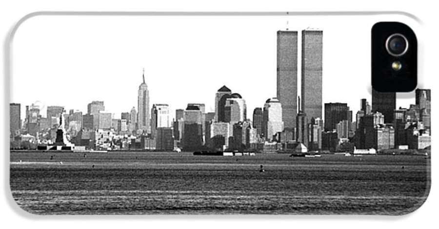 Nyc Skyline 1990s IPhone 5 Case featuring the photograph Nyc Skyline 1990s by John Rizzuto