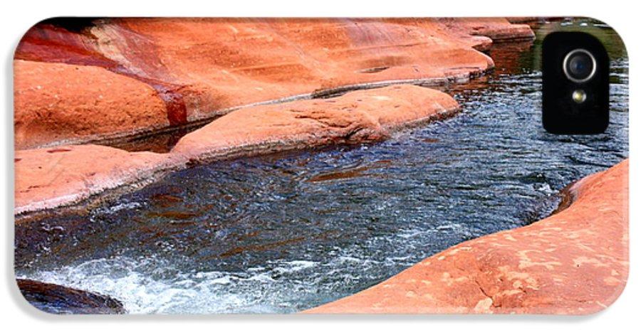 Sedona IPhone 5 Case featuring the photograph Oak Creek At Slide Rock by Carol Groenen
