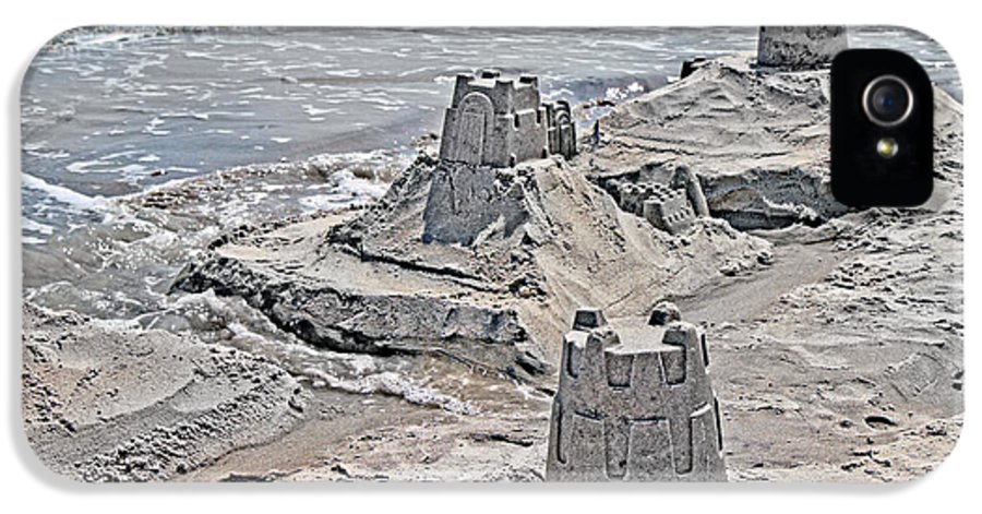 Topsail IPhone 5 Case featuring the photograph Ocean Sandcastles by Betsy Knapp
