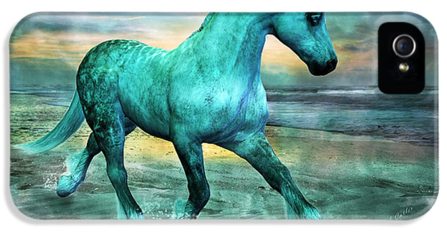 Horse IPhone 5 Case featuring the mixed media Ocean Wave by Betsy Knapp