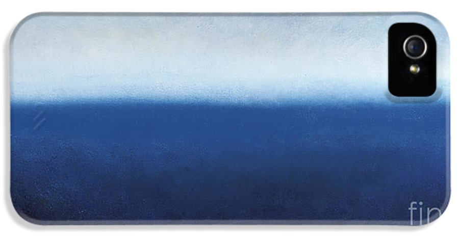 Abstract Art IPhone 5 Case featuring the painting Oceanic Meditation by Tiffany Davis-Rustam
