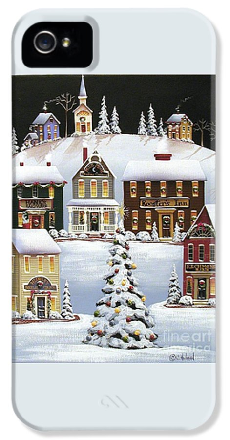 Art IPhone 5 Case featuring the painting Oh Christmas Tree by Catherine Holman
