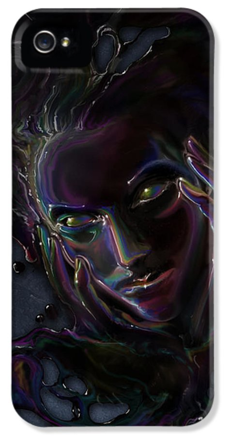 Fantasy IPhone 5 Case featuring the digital art Oil Spill by Cassiopeia Art