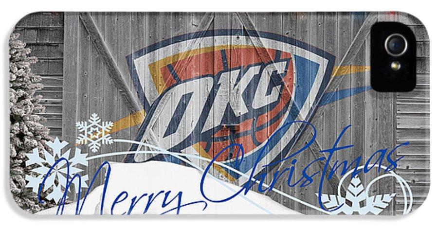 Thunder IPhone 5 Case featuring the photograph Oklahoma City Thunder by Joe Hamilton