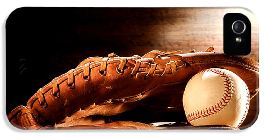 Baseball IPhone 5 Case featuring the photograph Old Baseball Glove by Olivier Le Queinec