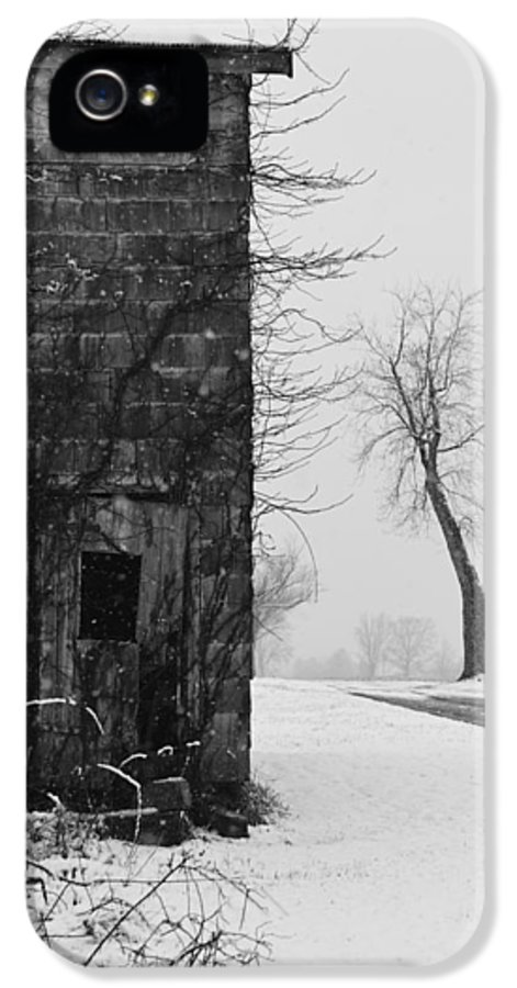 Door IPhone 5 Case featuring the photograph Old Door And Tree by William Jobes