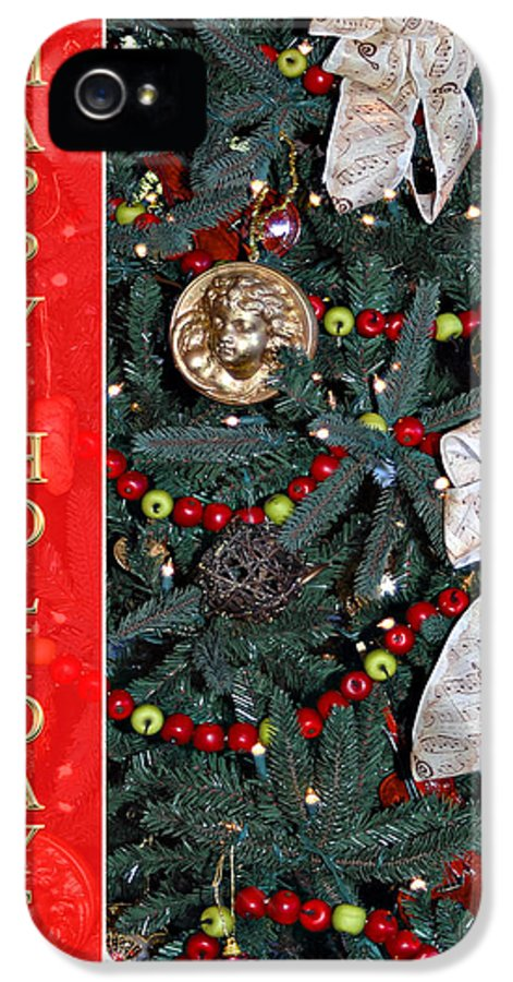 Christmas Tree IPhone 5 Case featuring the photograph Old Fashioned Christmas by Carolyn Marshall
