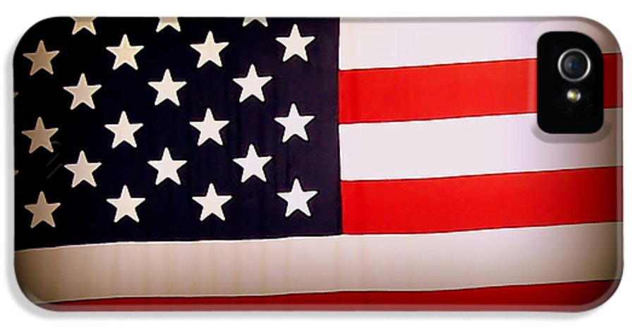 Old Glory IPhone 5 Case featuring the photograph Old Glory by Ernie Echols