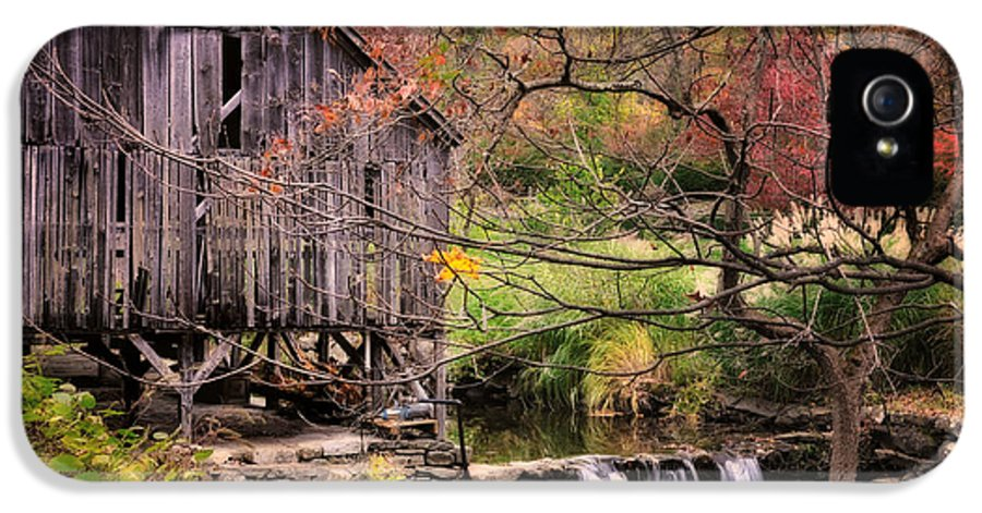 Grist Mill IPhone 5 Case featuring the photograph Old Grist Mill - Kent Connecticut by Thomas Schoeller