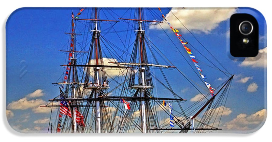 Uss Constitution IPhone 5 Case featuring the photograph Old Ironsides 1012 by Jeff Stallard