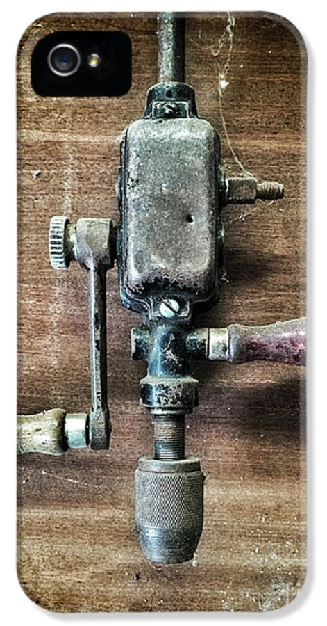 Drill IPhone 5 Case featuring the photograph Old Manual Drill by Carlos Caetano