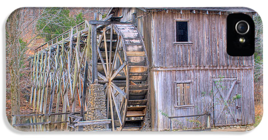 Old IPhone 5 Case featuring the photograph Old Mill Water Wheel And Sluce by Douglas Barnett