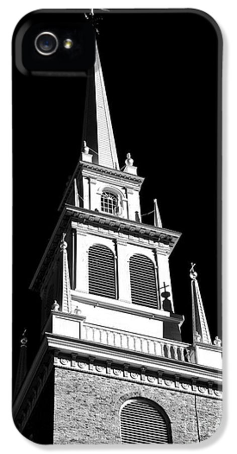 Old North Church Star IPhone 5 Case featuring the photograph Old North Church Star by John Rizzuto
