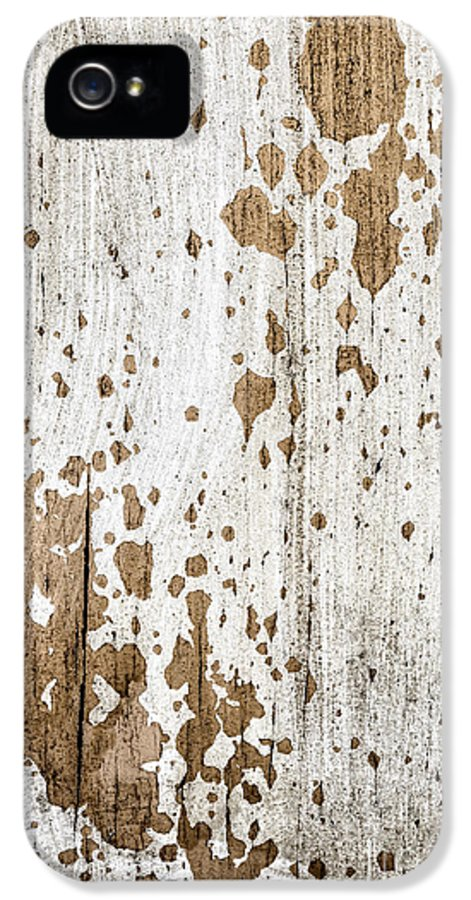 Rustic IPhone 5 Case featuring the photograph Old Painted Wood Abstract No.3 by Elena Elisseeva
